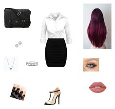 """""""Criminal minds"""" by sammiam ❤ liked on Polyvore featuring Zizzi, Charlotte Russe, Serapian, Lime Crime, Tiffany & Co. and Kobelli"""