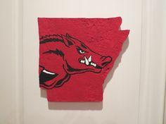 Arkansas Razorback Cutout by CreativiTreat on Etsy, $30.00