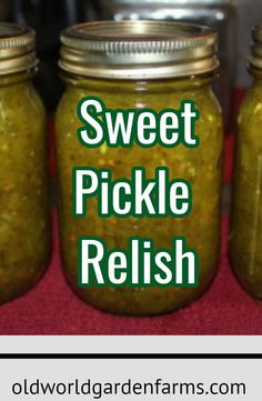 Sweet Pickle Relish Recipe - A Great Way To Use These Cucumbers - Classic Recipe For Sweet Pickles. Canning Sweet Pickles, Sweet Relish Recipe Canning, Recipe For Relish, Sweet Gherkin Pickle Recipe, Sweet Pickle Recipes, Home Made Pickles Recipe, Classic Recipe, Home Canning Recipes, Recipes