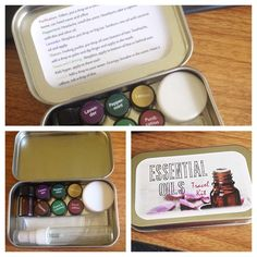 Young Living essential oils travel kit.