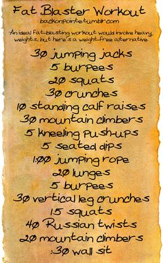 fat blaster workout
