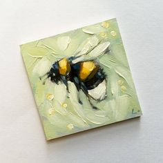 Paint painting great Source by Small Canvas Art, Mini Canvas Art, Bee Painting, Painting & Drawing, Painting Inspiration, Art Inspo, Mini Toile, Aesthetic Painting, Bee Art
