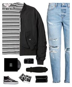 Skater by genesis129 on Polyvore featuring polyvore fashion style Miss Selfridge H&M Vans Balenciaga Polaroid clothing