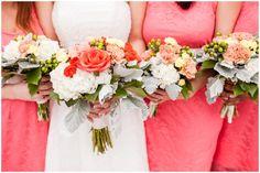 Bridesmaids and bouquets, Sandbridge Beach House Wedding Photography, Virginia Beach, McPherson Photography www.McPhersonPhotos.com
