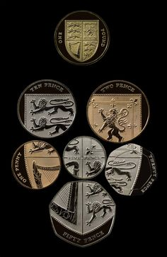 british coins form the coat of arms