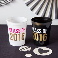 Class of 2016 stadium cups | Perfect for your graduation party!