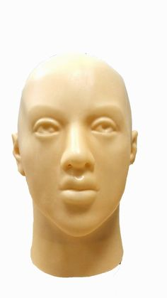 AmazonSmile: LMJMASK Fetish Latex Realistic Full Head Shiny Masks for Party Halloween (Skin color, L size, no eyes open): Clothing