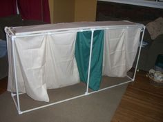Viola!  My very own massive PVC laundry hamper