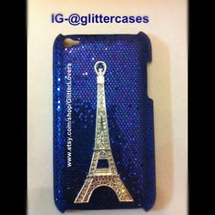 Glitter Eiffel Tower case for iPod touch 4th gen by GlitterLovers, $20.00 but maybe a different color. How about turquoise?