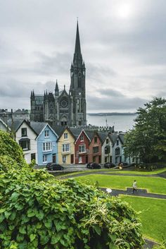 Deck of Cards colorful homes in Cobh Ireland