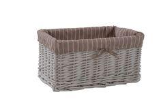 Hamptons White Storage Basket - Small RRP $30