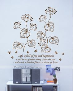 Fragrance Of Flowers Wall Stickers