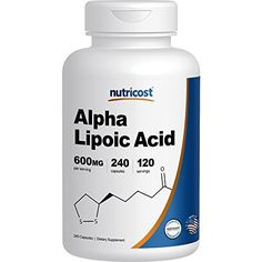 120 Servings Per Bottle 600mg Serving (300mg Capsules) High Quality Alpha Lipoic Acid  #diabetessupplement #diabetescure #herbalsupplement #nutrition #diabetic