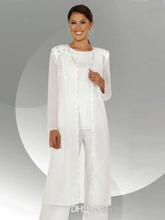 Cheap mother groom dresses, Buy Quality dress with jacket directly from China mother groom Suppliers: Elegant Mother Of The Bride Pant Suits for Wedding Chiffon Plus Size Crystal Mother's Groom Dress with Jacket Long Sleeve Wedding Trouser Suits, Dressy Pant Suits, Mother Of The Bride Trouser Suits, Wedding Pantsuit, Mother Of The Bride Gown, Mother Of Groom Dresses, Mothers Dresses, Mother Bride, African Bridesmaid Dresses