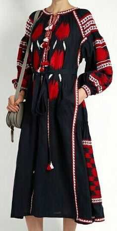 Free shipping! Embroidered dress to order boho style vyshyvanka