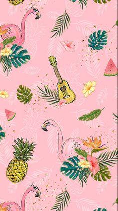 59 Ideas for wall paper iphone pineapple desktop wallpapers Flamingo Wallpaper, Tropical Wallpaper, Summer Wallpaper, Trendy Wallpaper, Pink Wallpaper, Pattern Wallpaper, Cute Wallpapers, Wallpaper Backgrounds, Pineapple Wallpaper Tumblr