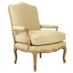 Shop armchairs and other antique and modern chairs and seating from the world's best furniture dealers. Louis Xvi, Loft Design, Striped Linen, Modern Chairs, Cool Furniture, Vintage Designs, Accent Chairs, Armchair, Shabby Chic