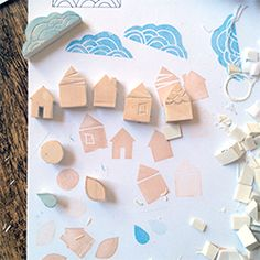 Learn how to carve your own adorable stamps from erasers in this step-by-step tutorial with photography.