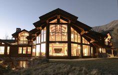 Dusk Shot of Exterior - Residence in Near Telluride, CO  Bercovitz Design.  So welcoming...