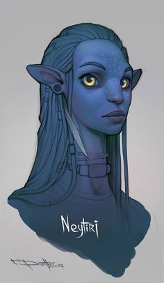 Neytiri by Boris-Dyatlov on DeviantArt Avatar Films, Avatar Movie, Arte Alien, Alien Art, Fantasy Creatures, Mythical Creatures, Avatar James Cameron, Avatar Fan Art, Pinturas Disney