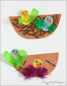 Spring Crafts for Kids: Nest and Birds Paper Craft ~ Buggy and Buddy