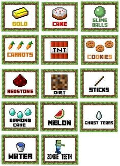 Halloween Class Party Ideas for Grades – Joy in the Works - Minecraft, Pubg, Lol and Minecraft Food Labels, Minecraft Party Games, Minecraft Party Decorations, Minecraft Birthday Party, Minecraft Crafts, Halloween Class Party, Fete Halloween, Halloween Ideas, Party Food Labels