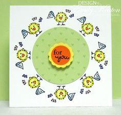 DeNami Chickie & Butterflies Circle card