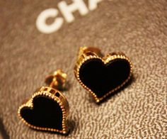 Heart Stud Earrings [AE0313] - $15.99 :