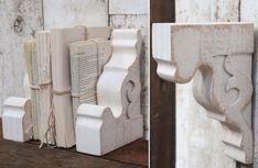 Wall Corbel   Distressed Corbel   WHITE CORBEL BOOK ENDS