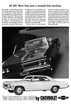 1966 Chevelle SS 396 ad