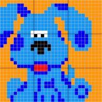 Blues Clues - Stitch Fiddle