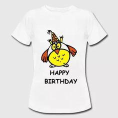 Happy Birthday Geburtstag Shirt Kleine Eule - Frauen T-Shirt