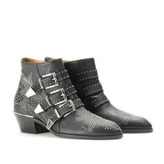 Chloe Susanna Boot Black Boots with Silver