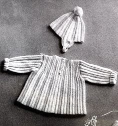 Crocheted Jacket and Cap Pattern
