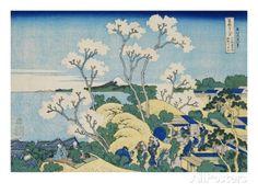 Fuji from Goten-yama, at Shinagawa on the Tokaido, from the Series Thirty-Six Views of Mt. Fuji Giclee Print by Katsushika Hokusai at AllPos...