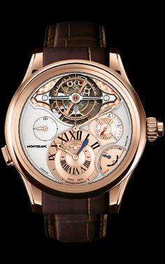 Villeret 1858 ExoTourbillon Chronograph watch by Montblanc.