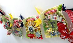 """Summer Canvas Banner made with """"Summer Fresh"""" by #SimpleStories"""