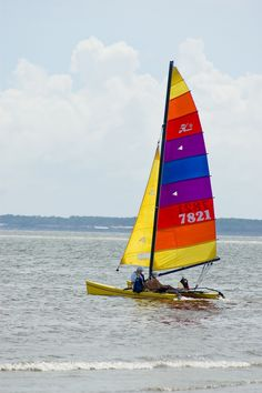 Sailing along East Beach on St. Simons Island.