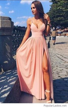 V-neck Prom Dress, Prom Dress, Long Prom Dress, Pink Prom Dress, Prom Dress Cheap Prom Dresses Long Pink Party Dresses, V Neck Prom Dresses, Cheap Evening Dresses, Cheap Dresses, Dress Prom, Dress Long, Prom Suit, Dresses Dresses, Prom Gowns