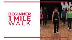 Beginner 1 Mile Walk | Walk at Home Fitness Tips For Men, Fitness Workout For Women, Easy Workouts, At Home Workouts, Walking Videos, Leslie Sansone, Power Walking, Walking Plan, Walking Exercise