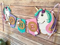 Unicorn banner, Unicorn High Chair Banner