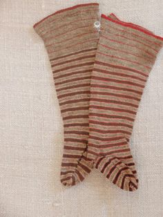 Fabulous 19th century Child's Striped Socks.