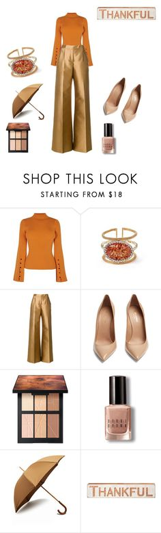 """""""Friday's Gold"""" by angieberrys on Polyvore featuring Karen Millen, Antonio Berardi, Yves Saint Laurent, NARS Cosmetics, Bobbi Brown Cosmetics, London Undercover and Primitives By Kathy"""