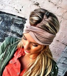 Jersey headband-Etsy shop-but i love her highlights....;)
