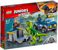 Superb LEGO 10757 Juiors Jurassic World Raptor Rescue Dinosaur Toy Now at Smyths Toys UK. Shop for Jurassic World At Great Prices. Lego Jurassic World, Jurassic World Raptors, Jurassic Park, Dino Toys, Dinosaur Toys, Dinosaur Party, Lego Disney, Disney Cars, Lego City