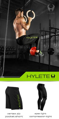 This ultra-durable, lightweight fabric stretches with your every movement, even deep squats and box jumps for you Crossfitters and functional fitness athletes. Quick drying, moisture wicking fabric performs on land or sea and is impervious to chlorine. Hot tub? Yes. http://www.hylete.com/cross-training-short-2-0-black-neon-green-2118.html