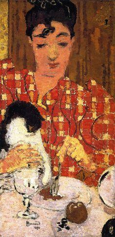 The Athenaeum - BONNARD, Pierre French Nabi (1867-1947)_The Checkered Blouse - 1892