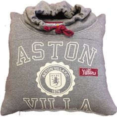 Aston Villa FC 'VILLANS' Official Merchandise Hoodie ACTUAL HOODIE Re-born as a Cushion! ONE ONLY!