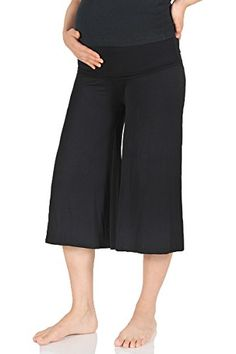 a7903763de485 Beachcoco Womens Maternity Comfortable Capri Pants 1XL Black ** To view  further for this item