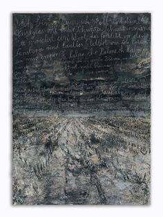 Anselm Kiefer - Aschenblume 2007-2012 Oil, emulsion, acrylic, shellac and chalk on canvas 380 x 280 cm